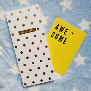 Gold dots magnetic to do list