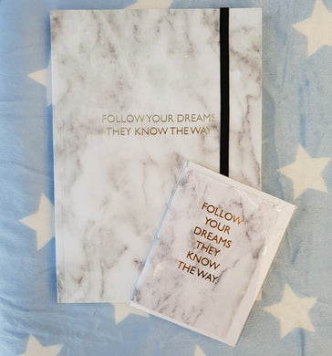 Follow Your Dreams Journal and Gift Card Set