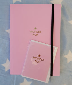 Wonder mum journal and gift card