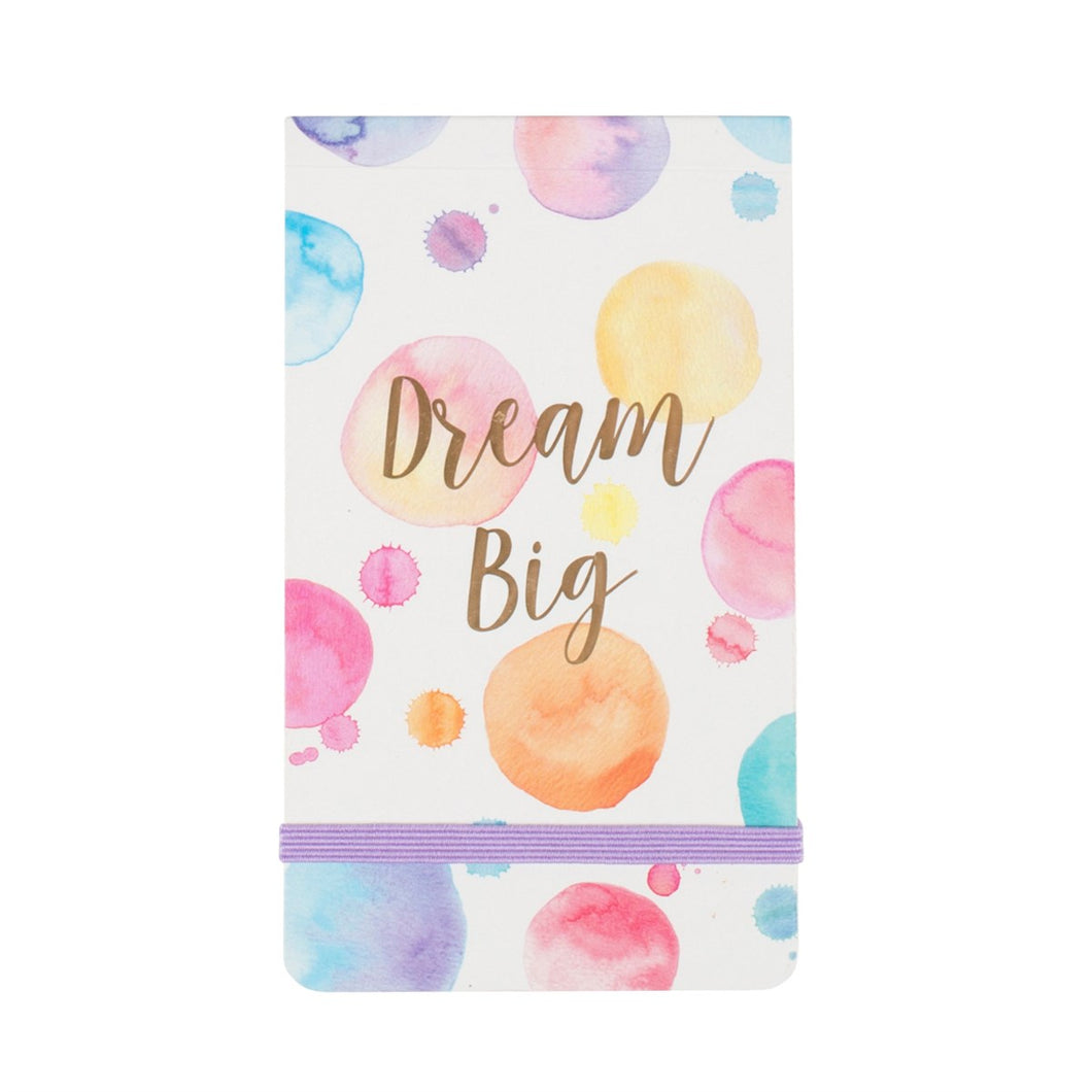 Dream big paint splash pocket notepad