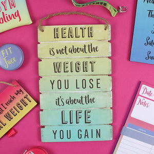 Fitness motivation hanging sign