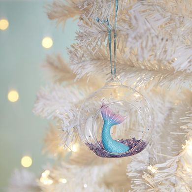 Glitter Mermaid Tail Bauble - Optional Personalisation