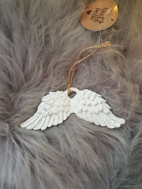 Hanging Angel Wings - Optional Personalisation