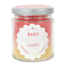 Magic unicorn Rainbow candle