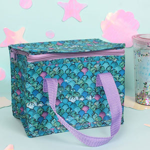 Scale print Mermaid lunch bag