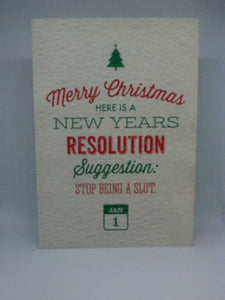 New years resolution Christmas card 18+