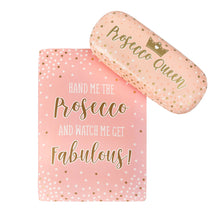 Prosecco Queen Glasses Case