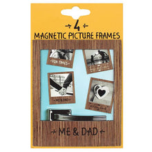 Set of 4 classic gent magnetic picture frames