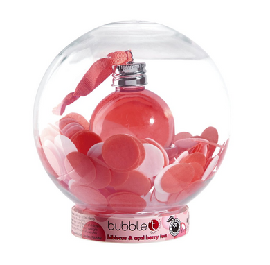 Hibiscus & Acai Berry Tea Bath Confetti Snow Globe (65ML Shower gel & 30G Flower soap)