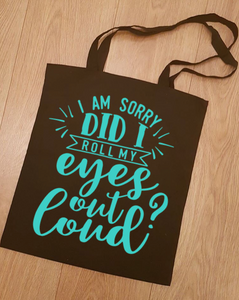 Slogan Tote bag - Black, Navy or White