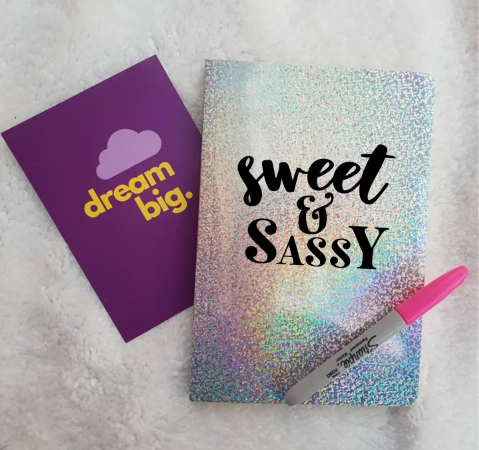 Rainbow glitter notebook - Personalised