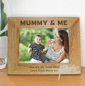 Mummy & Me 7x5 Wooden frame - Personalised