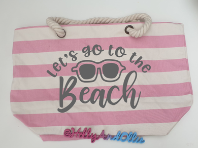 Large Beach Bag with Slogan