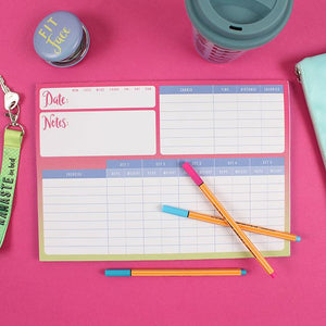 Tear off weekly gym planner