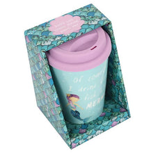 Mermaid thermal travel mug