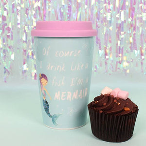 Reusable Mermaid thermal travel mug
