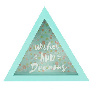 Wishes and dreams triangle money box