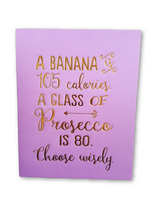 Banana And Prosecco Card