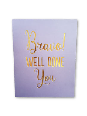 Bravo Well Done You Card