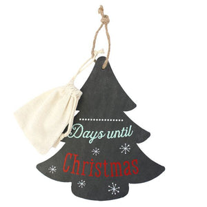 Christmas Countdown Slate Tree