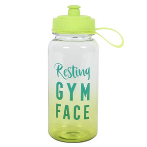 Resting Gym Face Water Bottle