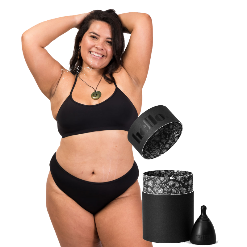 Period proof Swimwear set + Hello Cup