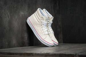 67578266a7 Vans SK8 Hi Slim Leather Canvas Bone True White Women s Size 10