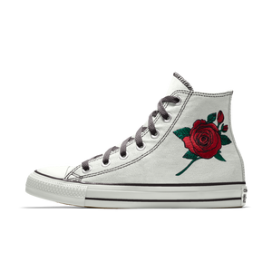 8f9cd6b43fc7 Convese Custom Chuck Taylor All Stars Rose Embroidery High Top Women s!
