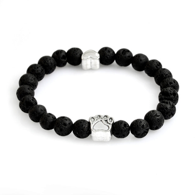 black rock bracelet with paws