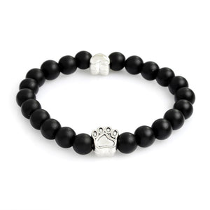 black matte bracelet with paws