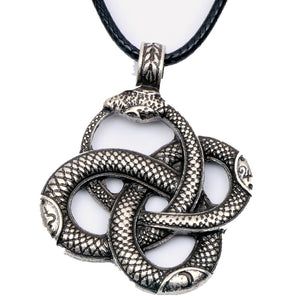 Men's snake rope necklace