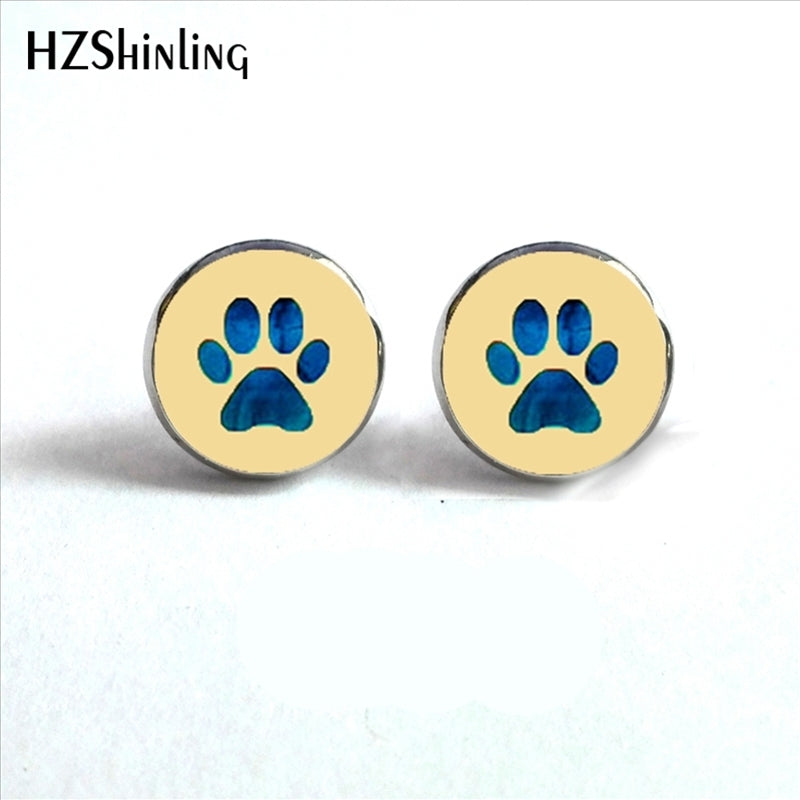 Handmade Paw Earrings