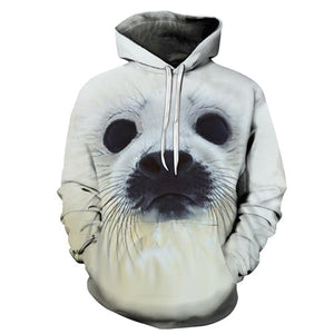 3D Hooded Animal Sweatshirts