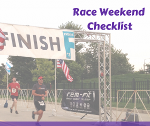 Race Weekend Checklist