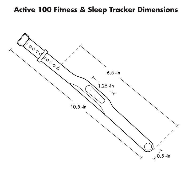 Active 100 Fitness & Sleep Tracker With App