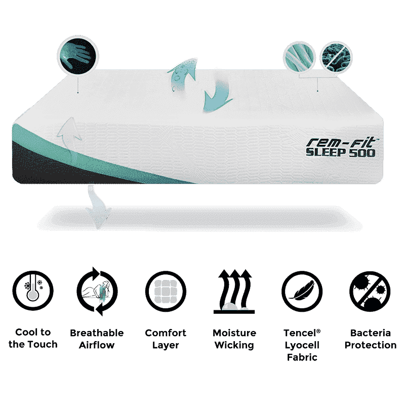 Sleep 500 12-Inch Cooling Hybrid Mattress for Multi-position Sleepers