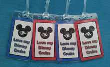 "Set of Four ""Love My Disney Cruise"" Luggage Tags"