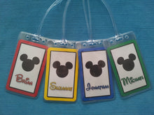 Set of Four Personalized Disney Mickey Head Luggage Tags