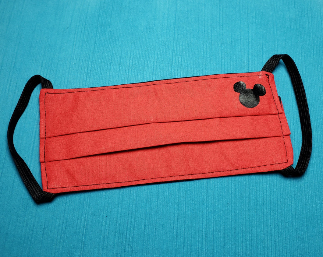Mickey Reusable Fabric Face Mask - 3 layer with filter - Handmade - Reversible