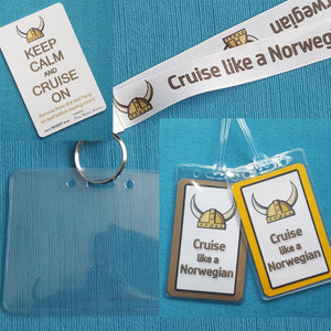 Cruise Gift Set - Norwegian - NCL - Lanyards - Luggage Tags - Light Card®