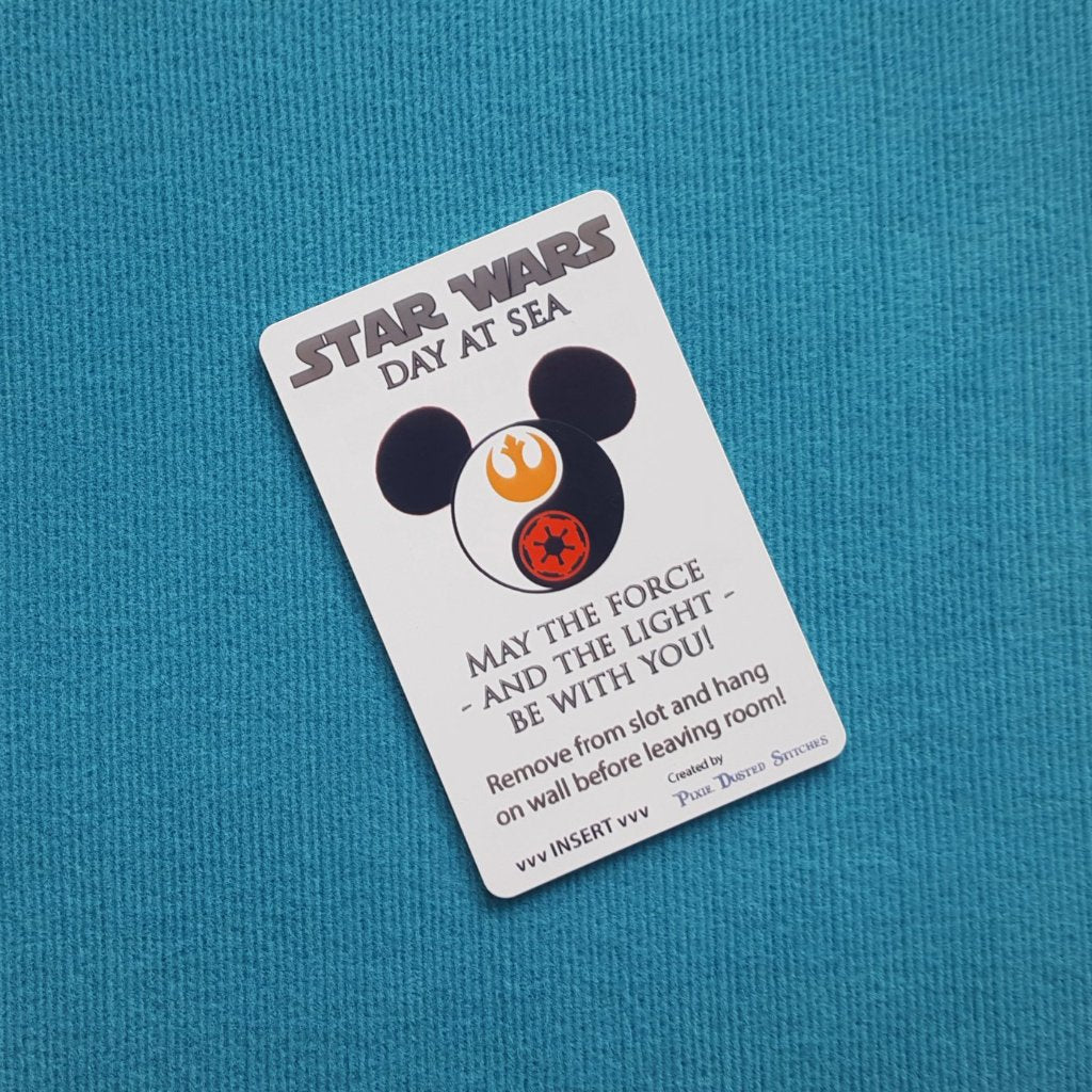 Star Wars Yin/Yang Mickey Disney Cruise Light Card® card key switch activator for Fish Extender FE Gift Star Wars Day at Sea