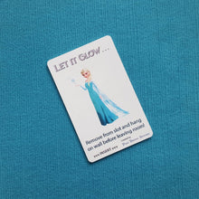 "Frozen's Queen Elsa ""Let it Glow"" Disney Cruise Light Card® card key switch activator for Fish Extender FE Gift DCL"