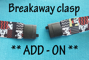 Breakaway clasp - Lanyard snap - ADD-ON - for lanyards