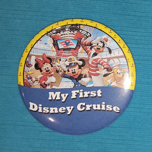 "Disney Cruise - ""My First Disney Cruise"" - Celebration Magnet - Celebration Pin - Mickey & Gang Sailors - with or without year - 2018 - 2019"