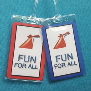 Carnival Cruise ~ Fun for All ~ Luggage Tags ~ Set of Two ~ Cruise Gift