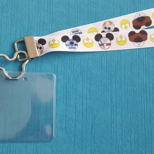 Disney Lanyard - for KTTW Card - Star Wars Mickey Heads - Star Wars Day at Sea - Non-scratchy - Child or Adult