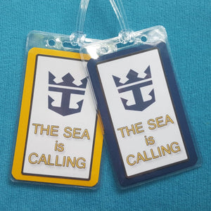 Royal Caribbean Cruise ~ The Sea is Calling ~ Luggage Tags ~ Set of Two ~ Cruise Gift