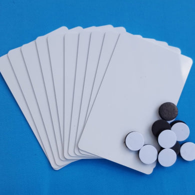 Disney Cruise - DIY Card Key Switch Activators - Set of 10 - Blank PVC Cards and Self-adhesive Magnets - Make Your Own DCL Light Slot Cards