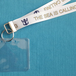 Lanyard - The Sea is Calling - for Royal Caribbean Cruise - Non-scratchy - Child or Adult