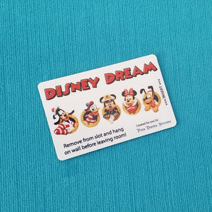 Disney Cruise Light Card® - magic card key switch activator - Mickey Minnie Donald Goofy Pluto in Portholes - for Fish Extender FE Gift DCL
